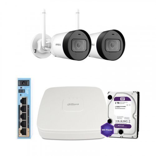 IP комплект видеонаблюдения Dahua WiFi-2M-2OUT-HOME-G22P-HDD