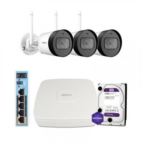 IP комплект видеонаблюдения Dahua WiFi-4M-3OUT-HOME-G42P-HDD