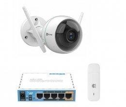 3G комплект с IP камерой Ezviz C3WN CS-CV310 (A0-1C2WFR) (2.8 мм)