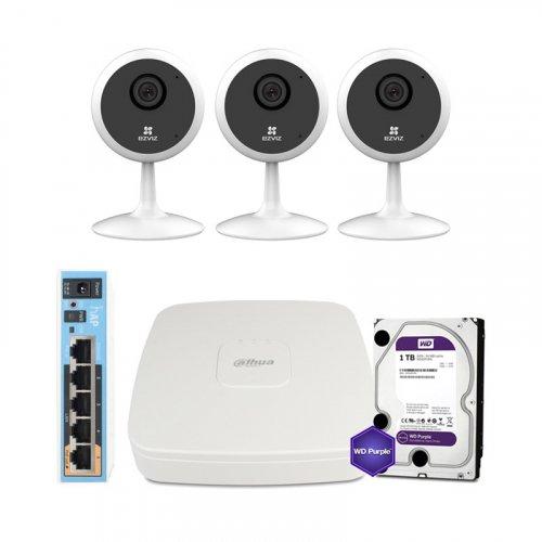 IP комплект видеонаблюдения Ezviz WiFi-1M-3IN-HOME-D0-1D1WFR-HDD