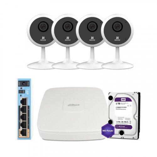 IP комплект видеонаблюдения Ezviz WiFi-1M-4IN-HOME-D0-1D1WFR-HDD