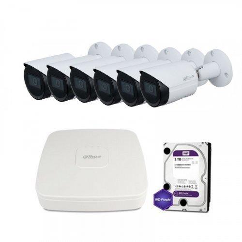 IP комплект видеонаблюдения Dahua IP-4M-6OUT-P-Lite