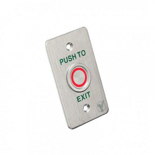 Кнопка выхода СКУД Yli Electronic PBS-820B(LED)