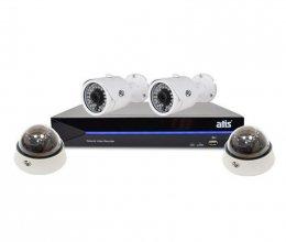 IP комплект видеонаблюдения ATIS Starter Kit IP 2ext 2int