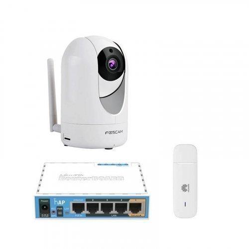 3G комплект видеонаблюдения с IP камерой Foscam R2M
