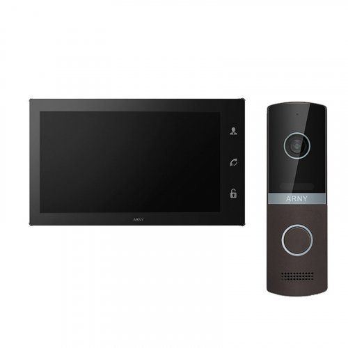 Комплект домофона ARNY AVD-1060 2MPX WiFi Black и ARNY AVP-NG230 2MPX Brown