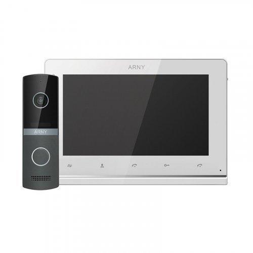 Комплект видеодомофона ARNY AVD-7130 IPS White Graphite