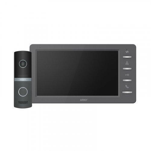 Комплект видеодомофона ARNY AVD-7030 1MPX Graphite + Graphite