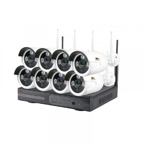 IP комплект видеонаблюдения Partizan Wi-Fi IP-37 8xCAM + 1xNVR (v1.1)