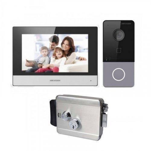 Комплект домофона Hikvision DS-KH6320-TE1 и Hikvision DS-KV6113-WPE1 + Atis Lock SS