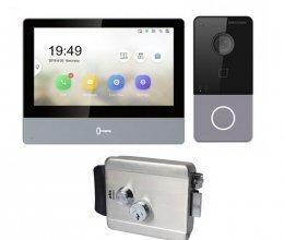 Комплект домофона Hikvision DS-KH8350-TE1 и Hikvision DS-KV6113-WPE1 + Atis Lock SS