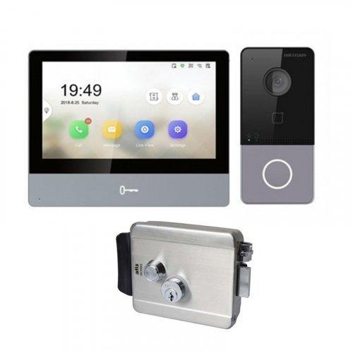 Комплект домофона Hikvision DS-KH8350-WTE1 и Hikvision DS-KV6113-WPE1 + Atis Lock SS