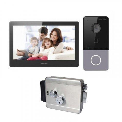 Комплект домофона Hikvision DS-KH8520-WTE1 и Hikvision DS-KV6113-WPE1 + Atis Lock SS