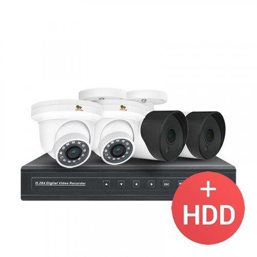 IP комплект видеонаблюдения Partizan 2.0MP IP-11 4xCAM + 1xNVR + HDD
