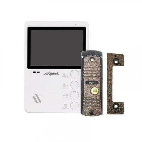 Комплект домофона Myers M-43 White + D-100C
