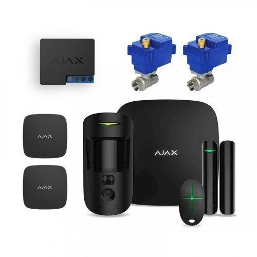 """Комплект сигнализации Ajax StarterKit Cam черный + Кран Neptun Bugatti Pro 220В 3/4"""""""