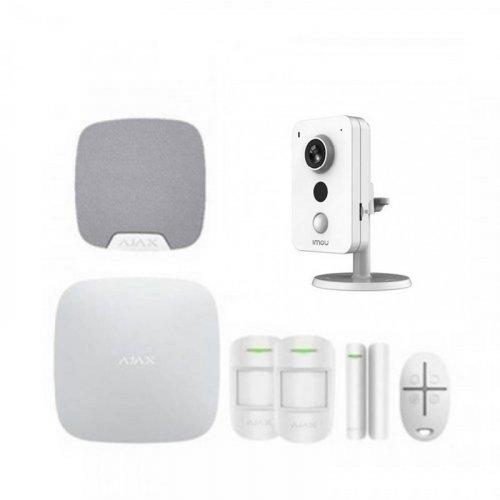 Комплект сигнализации Ajax для квартиры + камера IMOU IPC-K42P