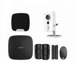 Комплект сигнализации Ajax для квартиры черный + камера IMOU IPC-K22P