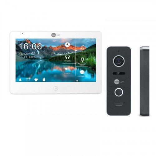 Комплект домофона NeoLight Mezzo HD WF White и Prime FHD (Pro) Black