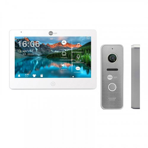 Комплект домофона NeoLight Mezzo HD WF White и Prime FHD (Pro) Silver