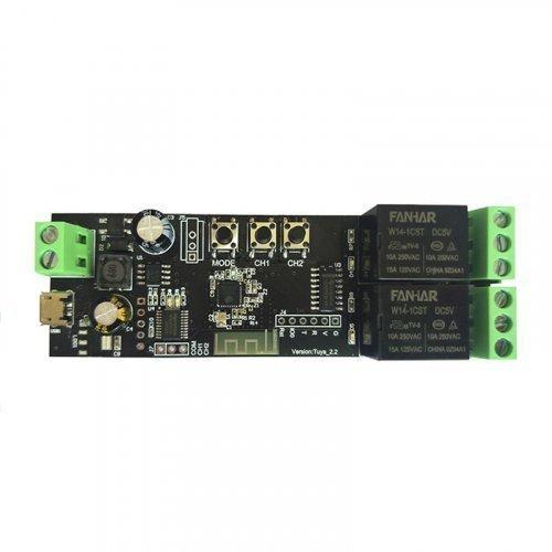 Беспроводной релейный модуль WiFi Tuya Smart 2CH
