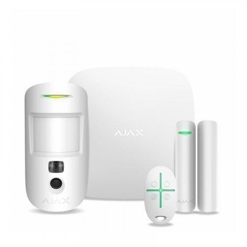 Комплект сигнализации Ajax StarterKit Cam Plus белый