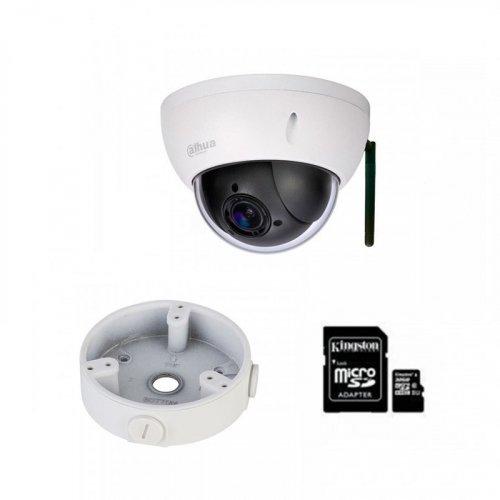 IP комплект видеонаблюдения для парадного с камерой Dahua DH-SD22404T-GN-W