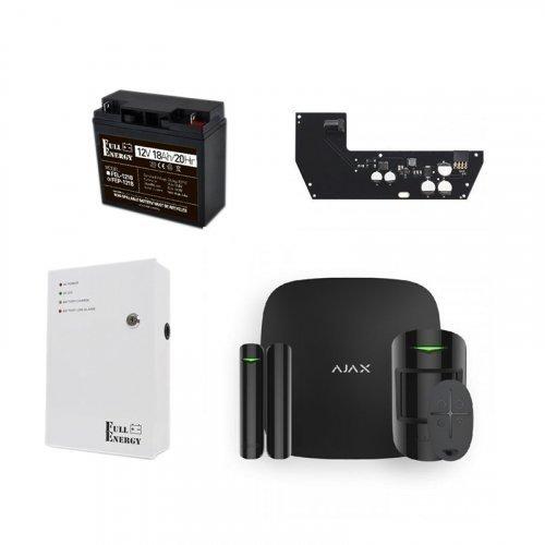 Ajax StarterKit Plus черный + БПП для продолжительной автономной работы
