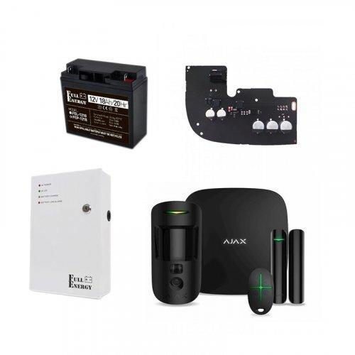 Ajax StarterKit Cam черный + БПП для продолжительной автономной работы