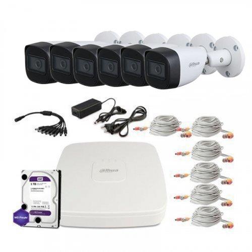 HDCVI комплект видеонаблюдения Dahua CVI-2M-6OUT-Lite-MP-Full