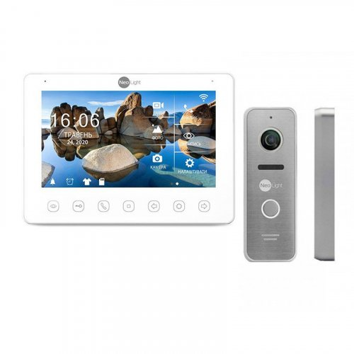 Комплект домофона NeoLight OMEGA+ HD WF и Prime FHD (Pro) Silver