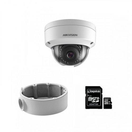 IP комплект видеонаблюдения для парадного с камерой DS-2CD2121G0-IWS + монтаж