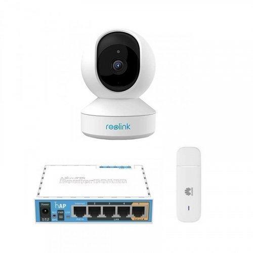 3G комплект видеонаблюдения с IP камерой Reolink E1