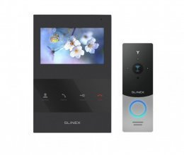 Комплект домофона Slinex SQ-04 Black и Slinex ML-20IP Silver+Black