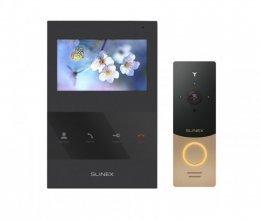 Комплект домофона Slinex SQ-04 Black и Slinex ML-20IP Gold+Black