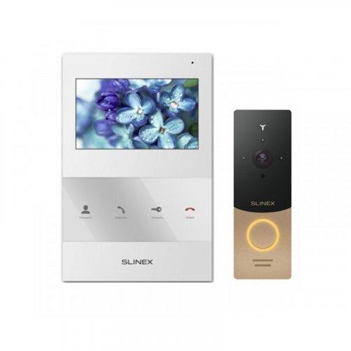Комплект домофона Slinex SQ-04 White и Slinex ML-20IP Gold+Black