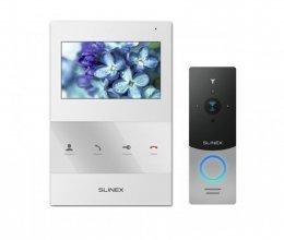 Комплект домофона Slinex SQ-04 White и Slinex ML-20IP Silver+Black