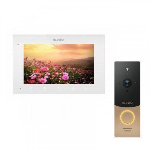Комплект домофона Slinex SQ-07MTHD White и Slinex ML-20IP Gold+Black