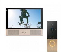 Комплект домофона Slinex Sonik 7 Black и Slinex ML-20IP Gold+Black