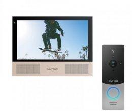 Комплект домофона Slinex Sonik 7 Black и Slinex ML-20IP Silver+Black
