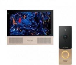 Комплект домофона Slinex Sonik 10 Black и Slinex ML-20IP Gold+Black