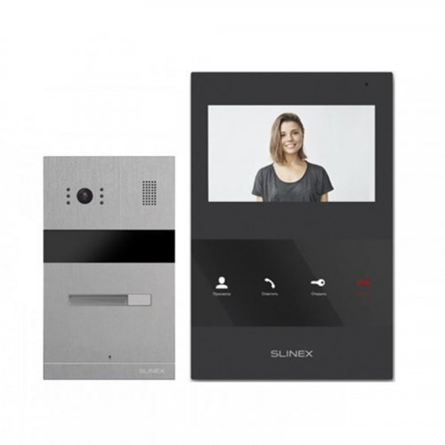 Комплект домофона Slinex SQ-04M Black и Slinex MA-01