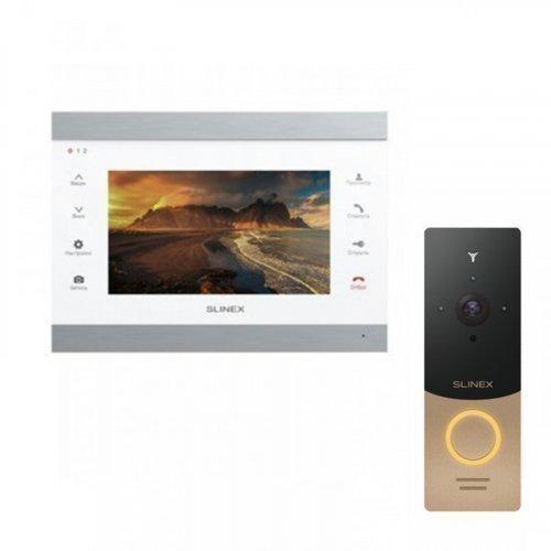 Комплект домофона Slinex SL‑07IPHD White и Slinex ML-20HD Gold
