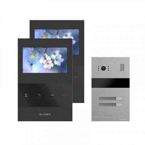 Комплект домофона Slinex SQ-04 Black и Slinex MA-02