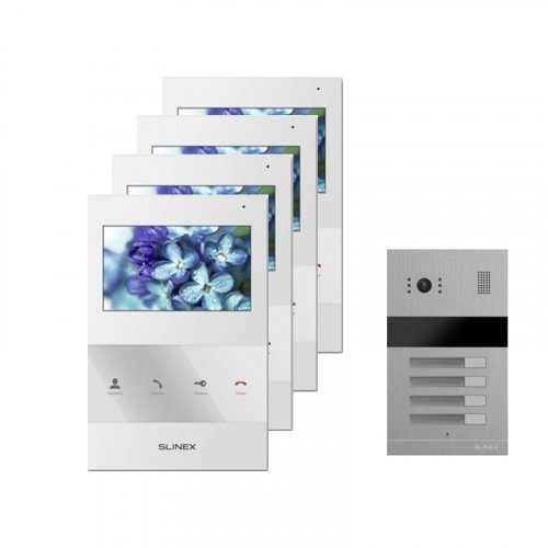 Комплект домофона Slinex SQ-04 White и Slinex MA-04