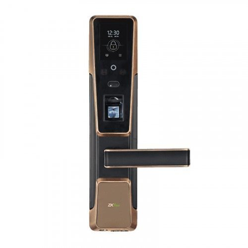 Smart замок ZKTeco ZM100 right для правых дверей со сканированием лица и считывателем отпечатка пальца