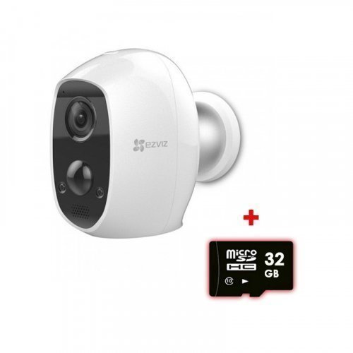 Аккумуляторная беспроводная WI-FI IP камера 2Мп EZVIZ CS-C3A (B0-1C2WPMFBR)