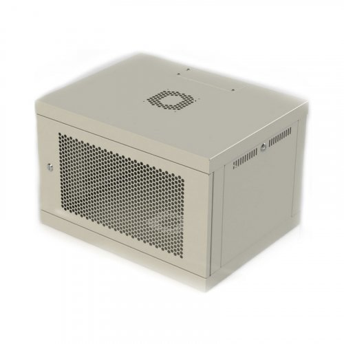 Шкаф серверный настенный 6U, 600x450x390 мм (Ш*Г*В), перфорация