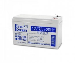 Аккумулятор гелевый 12В 7 Ач для ИБП Full Energy FEL-127