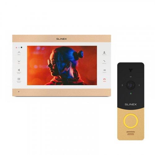 Комплект домофона Slinex SL-10IPTHD Gold и Slinex ML-20HD Gold